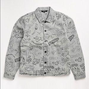 🎉HP🎉 RIPNDIP Marker Light Wash Denim Jacket